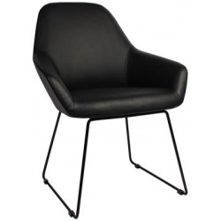 Bronte Premium Vinyl Armchair with Sled Base